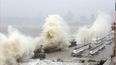 cyclone and sea