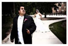 bride-groom running